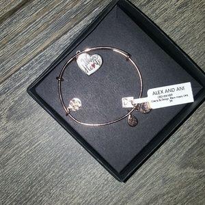 Alex and Ani Warm Hearts bracelet.